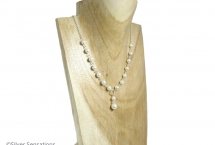 White-pearls-silver-necklace